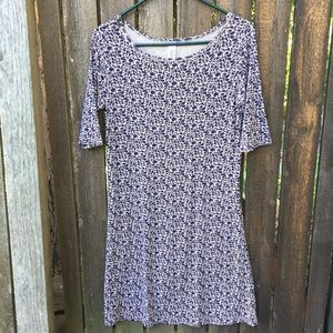 Yala Adrianna Dress Purple & Tan Size Small